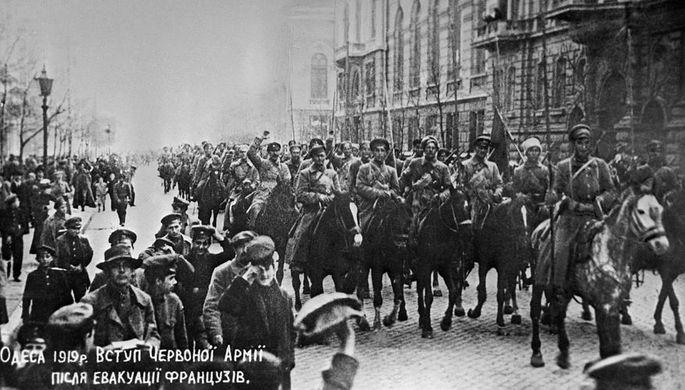 Вступление войск атамана Никифора Григорьева в Одессу, 1919 год