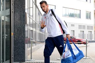 Игрок сборной России Гильерме перед вылетом на чемпионат Европы по футболу — 2016