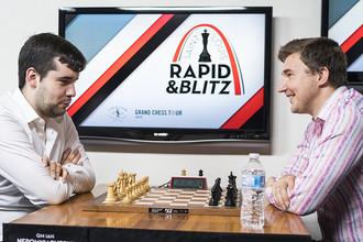 Ян Непомнящий (слева) и Сергей Карякин