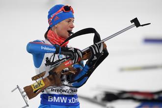 Биатлонистка сборной России Ирина Старых сотоварищи постараются навязать борьбу за медали в гонке преследования на 10 км
