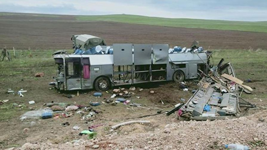 В Казахстане 11 человек погибли в ДТП с автобусом
