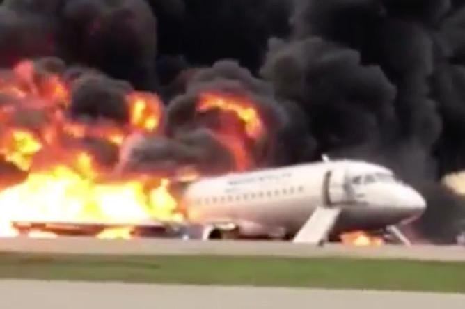 Пожар в самолете в Шереметьево, 5 мая 2019 года
