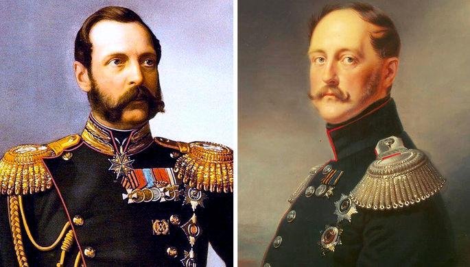 Александр II и Николай I (коллаж)