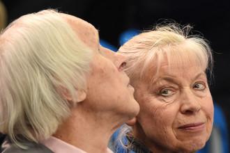 Людмила Белоусова и Олег Протопопов на Олимпиаде в Сочи