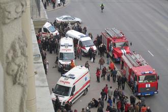 Станции метро «Октябрьская» в центре Минска, где произошел взрыв 11 апреля 2011 года