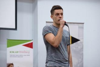 Главный редактор Sports.ru Юрий Дудь на лекции для «МЕДИА школы» в Самаре
