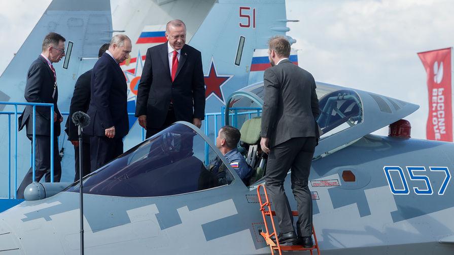 Су-57 и Идлиб: что Путин и Эрдоган обсуждают на МАКСе
