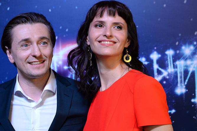 Сергей Безруков и режиссер Анна Матисон на предпремьерном показе фильма «Млечный путь» в Москве, 2015 год