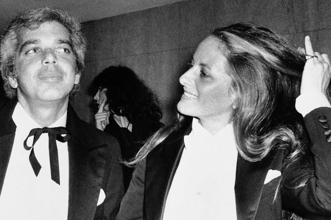 Ральф Лорен со своей женой, 1977 год
