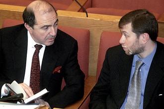 Березовский и Абрамович на первом пленарном заседании Государственной Думы. 2000 год