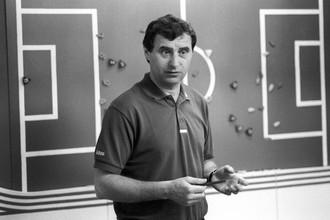 Главный тренер сборной СССР по футболу Анатолий Бышовец. 1991 год