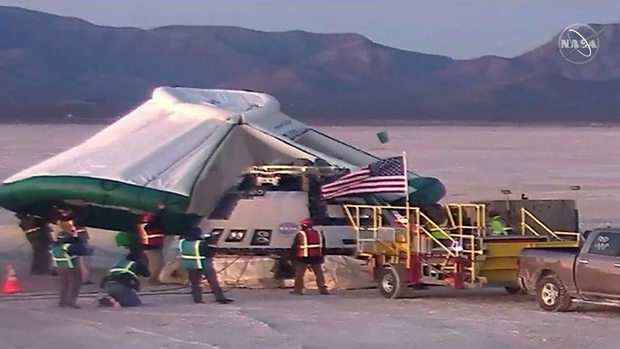 Космический корабль Starliner компании Boeing совершил успешную посадку в штате Нью-Мексико, 22 декабря 2019 года