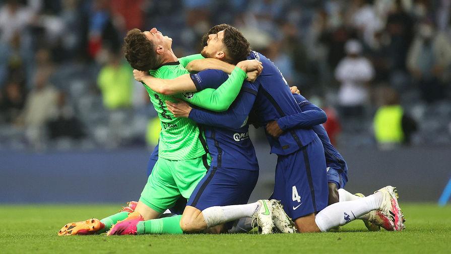 «Челси» празднует победу в финале Лиги чемпионов, 29 мая 2021 года