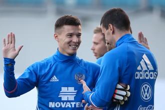Новички сборная России из «Ростова»: Дмитрий Полоз (слева) и Сослан Джанаев