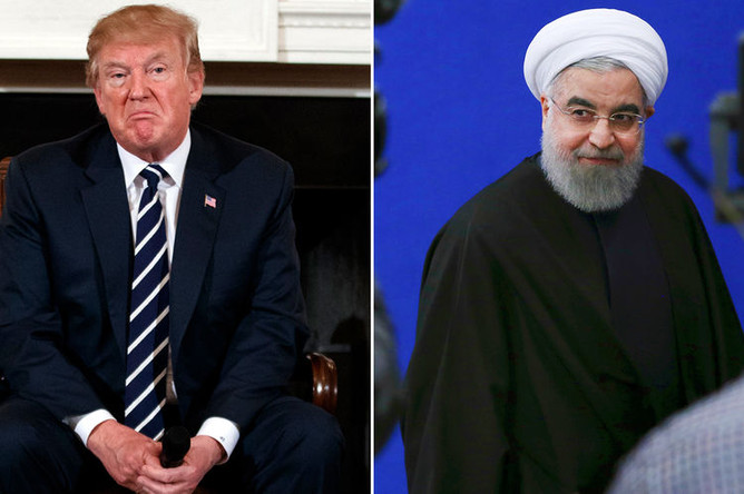 Президент США Дональд Трамп и президент Ирана Хасан Рухани (коллаж)