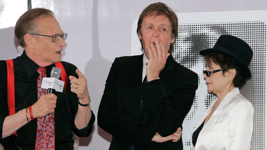Ларри Кинг, Пол Маккартни и Йоко Оно, 2007 год