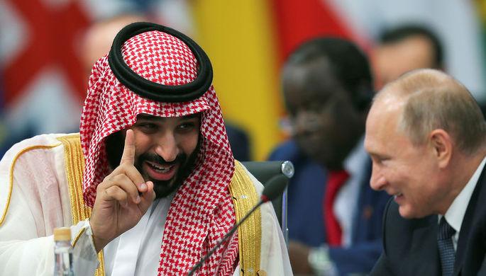 Президент России Владимир Путин и наследный принц Саудовской Аравии Мухаммед ибн Салман Аль Сауд на саммит G20, 30 ноября 2018 года
