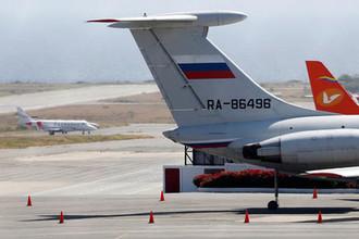 Российский самолет в аэропорту Каракаса, 24 марта 2019 года