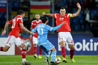 Во время отборочного матча чемпионата Европы по футболу 2020 между сборными Сан-Марино и России, 19 ноября 2019 года