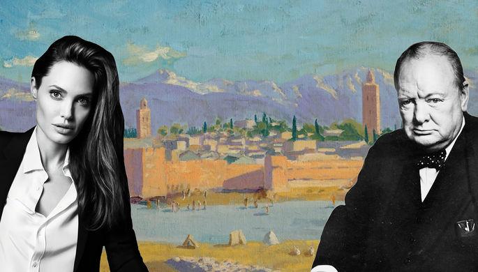 Анджелина Джоли продала картину Черчилля за рекордную сумму