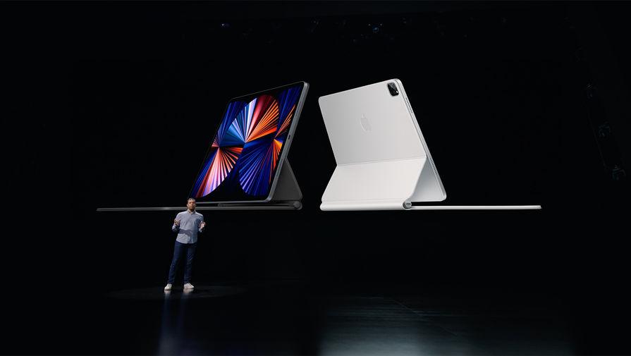 Новый iPad Pro во время весенней презентации Apple, 20 апреля 2021 года