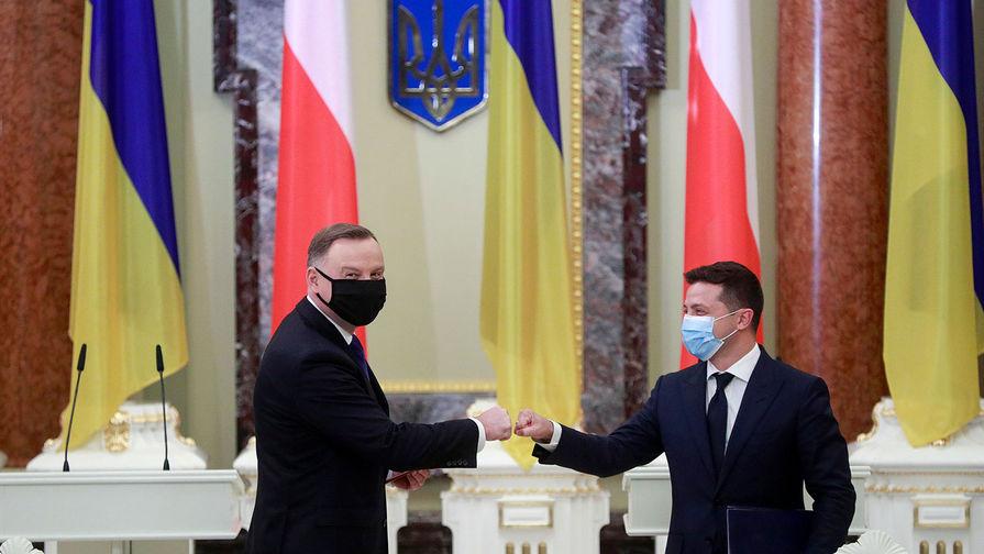 Президент Польши Анджей Дуда и президент Украины Владимир Зеленский