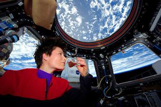 Итальянский астронавт Саманта Кристофоретти на МКС