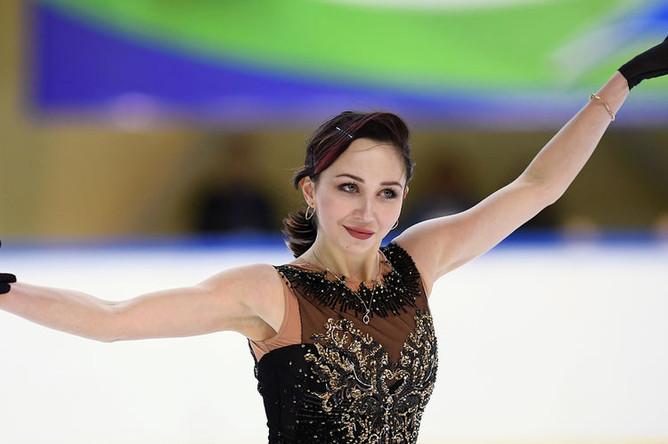Елизавета Туктамышева выступает в произвольной программе женского одиночного катания финала Кубка России, 22 февраля 2019 года