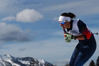 Анна Миленина (Россия) на трассе гонки на дистанции 5 км