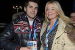 Телеведущий Дмитрий Борисов и телеведущая Татьяна Арно навечеринке вСочи, 2014 год