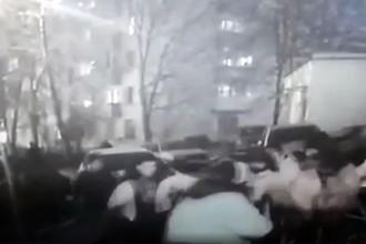 Битва за парковку: москвичи подрались с рабочими