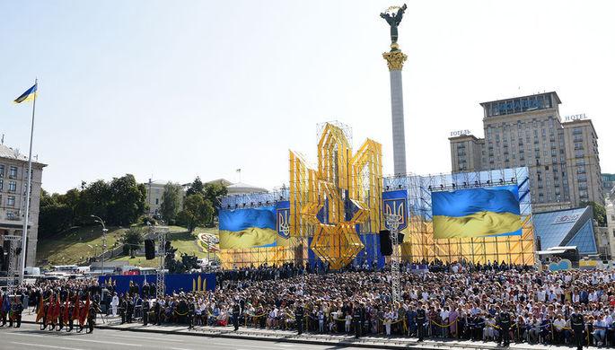 Во время военного парада в Киеве по случаю Дня независимости Украины, 24 августа 2018 год
