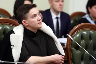 Народный депутат Надежда Савченко на заседании комитета по вопросам регламента и организации работы Верховной Рады Украины в Киеве, 22 марта 2018 года