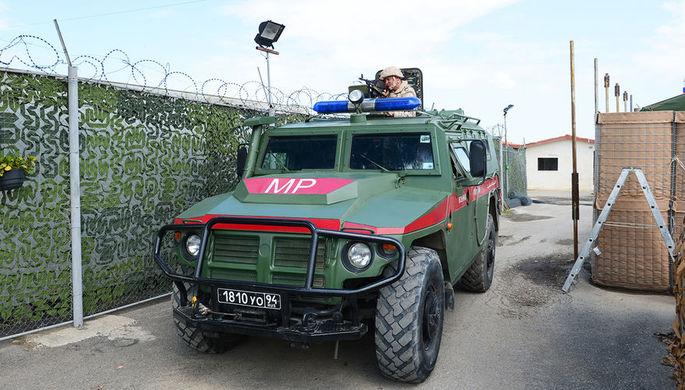 Военная полиция на базе Хмеймим