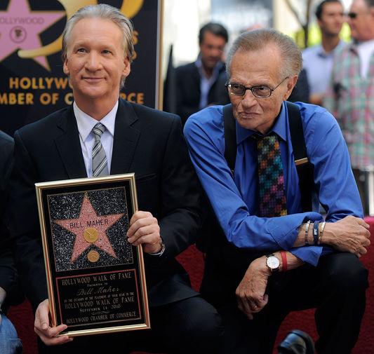 Актер и телеведущий Билл Мар и Ларии Кинг в Лос-Анджелесе, 2010 год