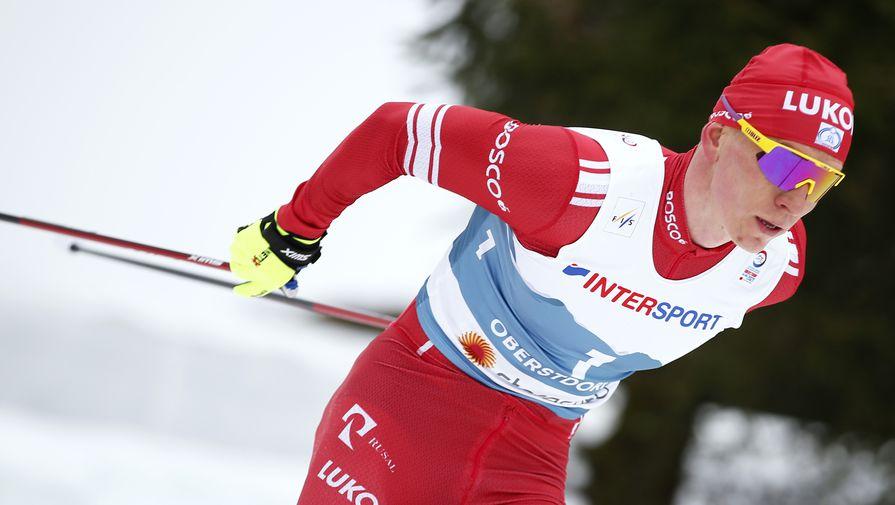 Александр Большунов на чемпионате мира по лыжным гонкам