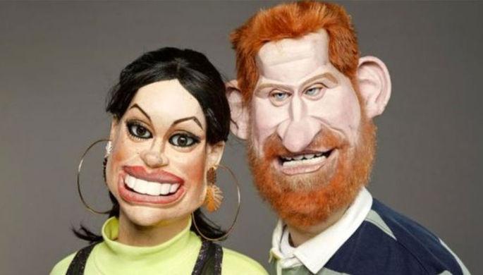 Меган Маркл и принц Гарри в британском аналоге шоу «Куклы» Spitting Image