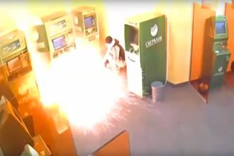 Попытка подрыва банкомата Сбербанка