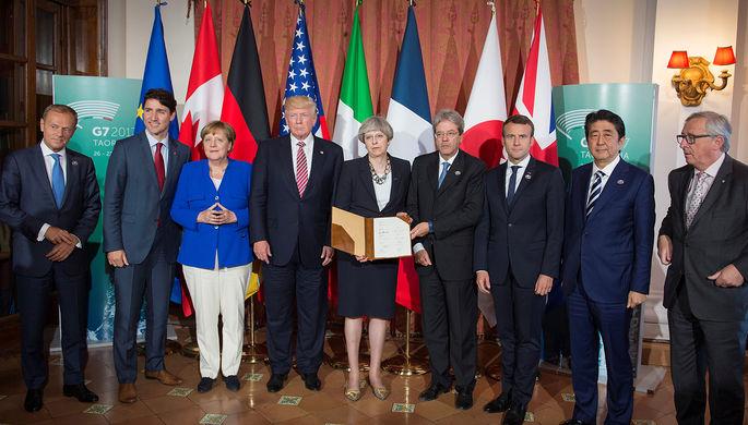 Председатель Европейского совета Дональд Туск, премьер-министр Канады Джастин Трюдо, канцлер...