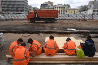 Реконструкция на Садовом кольце в Москве, май 2017 года