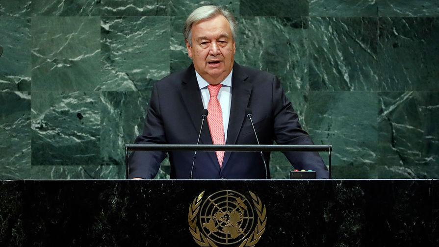 Генеральный секретарь ООН Антониу Гутерреш, 25 сентября 2018 года