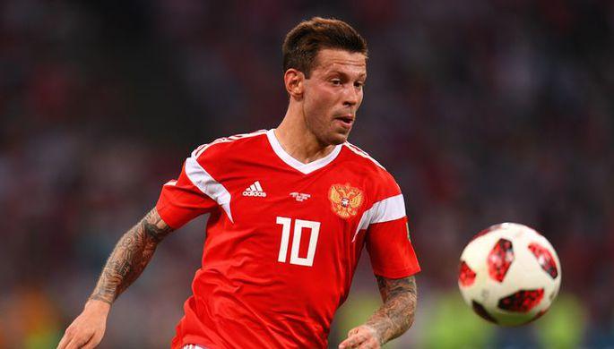 Нападающий сборной России Федор Смолов