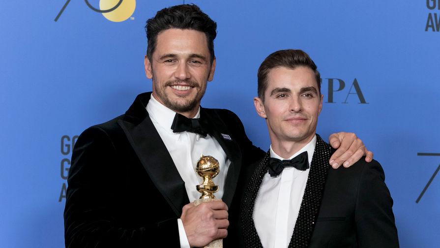 Актеры и родные братья Джеймс Франко (слева) и Дэйв Франко на церемонии вручения наград премии «Золотой глобус», 2018 год