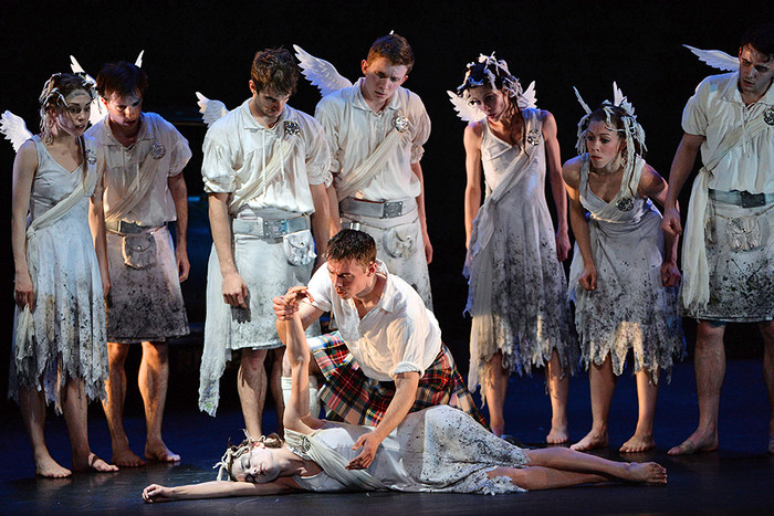 Репетиция балета «Шотландский перепляс»