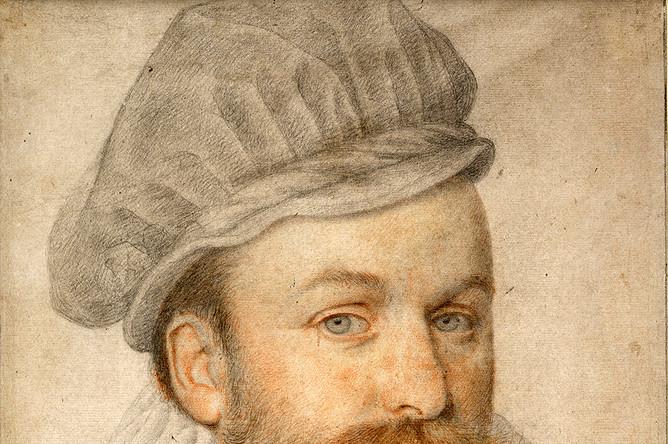 Пьер Дюмустье «дядя». Портрет молодого человека с брыжами и в польской шапочке. Около 1574 года