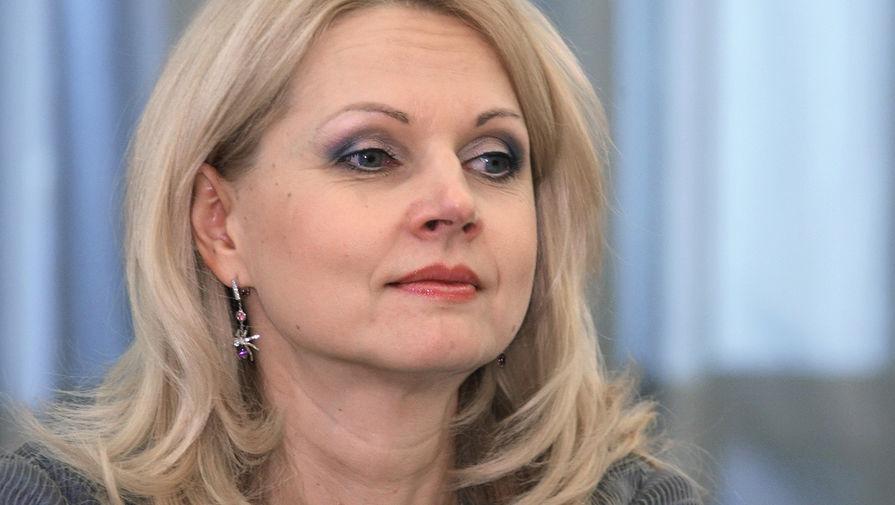 Министр здравоохранения и социального развития Российской Федерации Татьяна Голикова на заседании президиума правительства Российской Федерации, 2008 год