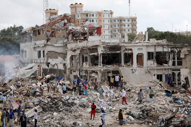 Последствия теракта в Сомали, 14 октября 2017
