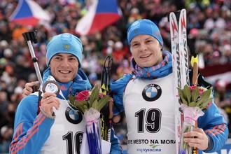 Миг триумфа Антона Бабикова (слева) и Матвея Елисеева