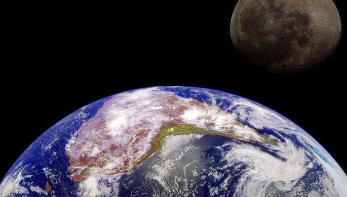 Ученые: атмосфера Земли полностью охватывает Луну