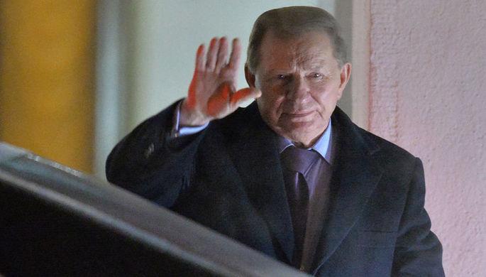 Экс-президент Украины Леонид Кучма перед началом встречи трехсторонней контактной группы...